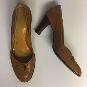 Marc Jacobs Leather Slip On Heeled Shoes Size 9.5
